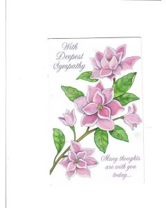 with deepest sympathy many thoughts are with you today Card