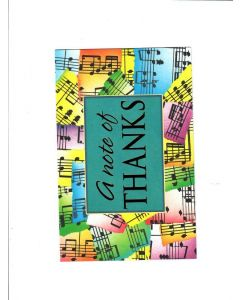 A note of thanks Card