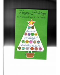 Happy Holidays To A Special Son&His Family Card