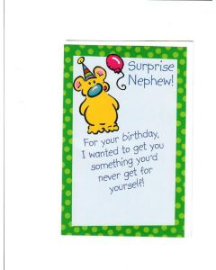 Surprise Nephew Card
