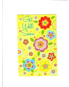 Get Well Soon Card - Yellow Card
