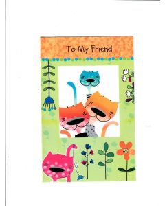 To My Friend Card - Love from Kitty