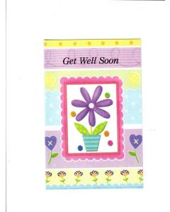 Get Well Soon Card - Multicolor Card