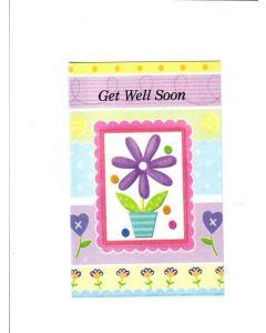 Get Well Soon Card - Multicolor Card