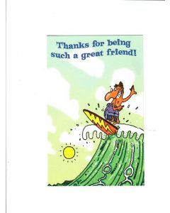 Thanks For Being Such A Great Friend Card