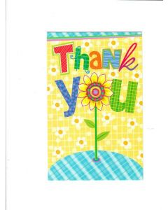 Thank You Card - A Big Thanks & Sunflower | London Greetings