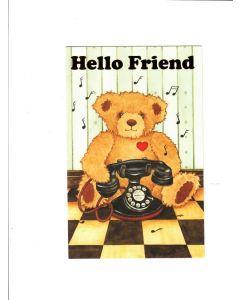 To My Friend Card - Teddy Bear