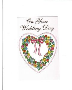 On Your Wedding Day Card - Heart with Ribbon