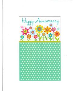 Happy Anniversary Card - Flowers & Flowers