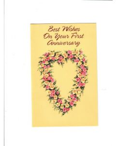 best wishes on your first  anniversary Card