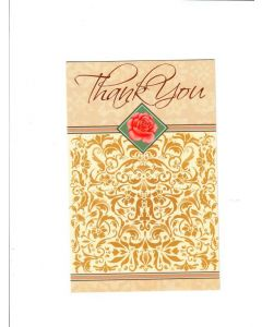 Thank You Card - Pale Yellow Card