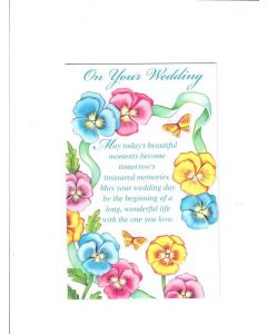 on your wedding Card