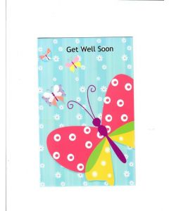 Get Well Soon Card - A butterfly