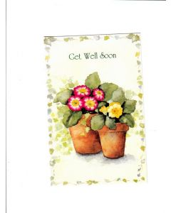 Get Well Soon Card - Flower Pot