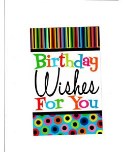 Birthday Wishes For You Card - Cheers