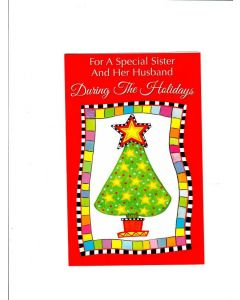 for a special sister and her husband during the holidays Card