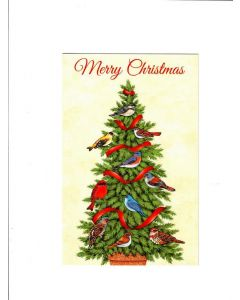 Mery Christmas Card - Sparrow Tree