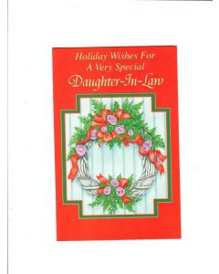 holiday wishes for a  very  special daughter in law Card